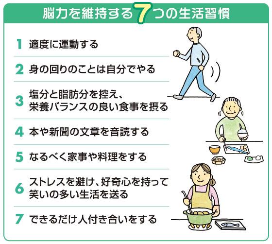 脳力を維持する7つの生活習慣