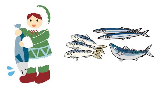 イヌイットと青魚