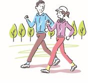 ジョギングの人