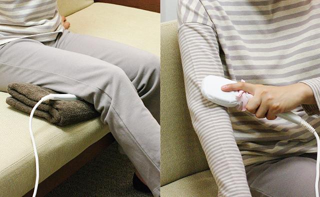 注熱によって筋肉をジワーっとほぐす